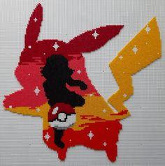 Disney Hama Beads Pattern, Perler Bead Pokemon Patterns, Pearl Beads Pattern, Perler Bead Templates, Hama Beads Patterns, Pikachu Hama Beads, Hama Disney, Art Perle, Anime Crafts