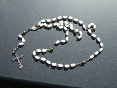Koliopee Does Vintage!    Gorgeous Antique Italian Roma Rosary with an by KoliopeeDesigns, $65.00