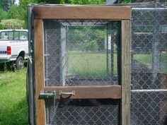 when using a dog kennel for a coop, the door gaps have to be made predator proof: