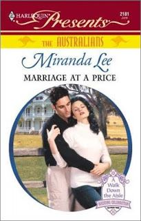 Marriage at a Price (Harlequin Presents) by Miranda Lee #bookreview #romance #books
