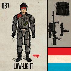 "087: ""Low-Light"". G.I. Joe ""Real American Hero"" Series 5, 1986."