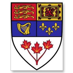 Canadian Coat of Arms represents four of the five countries of my family ancestors. Irish, Scottish Highlanders, French, and British.