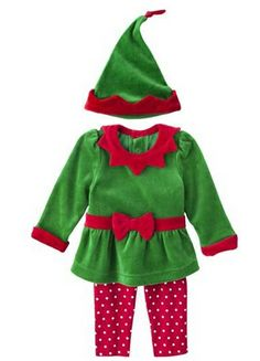 Baby #elf outfit for #Christmas