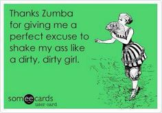 Let's be honest, it's the only thing that gets me to the gym #Zumba