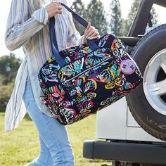 When baggage claim is a breeze, because our latest pattern Butterfly Flutter is unmistakable in any sea of luggage. Baggage Claim, Beautiful Bags, Vera Bradley Backpack, Travel Bags, Weekender, Butterfly, Shoulder Bag, Breeze, Nursing