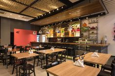 Designed by Syndrome and completed in Mais! Bistrô is a cozy bar/restaurant located in Porto Alegre, Brazil. Hotpot Restaurant, Cafe Restaurant, Chips Restaurant, Bistro Interior, Restaurant Interior Design, Boutique Interior, Interior Shop, Japanese Restaurant Design, Bistro Design