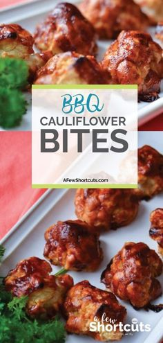 A delicious way to eat your veggies. This is a must try even if you don't like cauliflower. Check out this yummy BBQ Cauliflower Bites Recipe