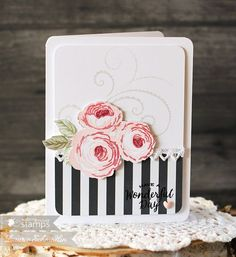 A place to share handmade paper crafts, cards, and gift ideas. Hand Made Greeting Cards, Making Greeting Cards, Flower Stamp, Flower Cards, Cute Birthday Cards, Altenew Cards, Stampin Up, Get Well Cards, Card Making Inspiration