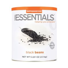 Emergency Essentials Black Beans - 81 oz - http://www.disasternecessities.com/product/FS%20G124