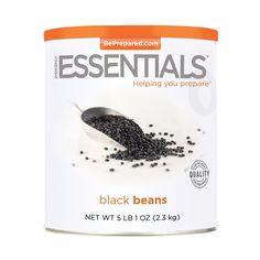 Emergency Essentials Black Beans - 81 oz - http://www.disasternecessities.com/product/FS%20G124
