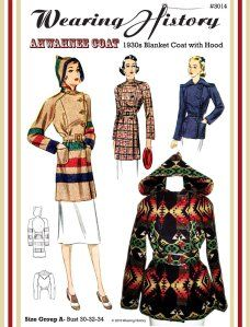 The Ahwahnee Coat- 1930s Blanket Coat | Wearing History™