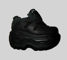 b73eb7d366 90s Vtg Mega Platform Sneakers Trainers Boots Clubkid Goth Cyber Grunge  Rock Size UK 6 / US 8.5 / EU 39