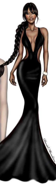 Naomi Campbell by David Mandeiro Illustrations