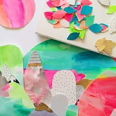 Quirky + Colorful Art by Laura Blythman (Click through for more pictures!)