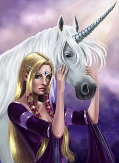 The Elf and The Unicorn by *Shantalla on deviantART