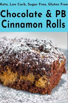 Not being your traditional low carb cinnamon rolls these are made with chocolate and peanut butter. To add being gluten free, keto friendly, and absolutely delicious! Low Carb Chocolate, Gluten Free Chocolate, Chocolate Peanut Butter, Chocolate Snacks, Keto Dessert Easy, Healthy Dessert Recipes, Snack Recipes, Sugar Free Desserts, Low Carb Desserts