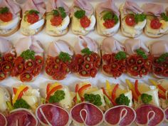 Chlebíčky – These open-face sandwiches are a cornerstone of Czech cuisine. Find the traditional classics at Jan Paukert and the gourmet versions at Sisters Bistro. Czech Recipes, Tea Recipes, Snack Recipes, Snacks, Open Faced Sandwich, Goat Cheese Salad, Party Finger Foods, Appetisers, Food Presentation