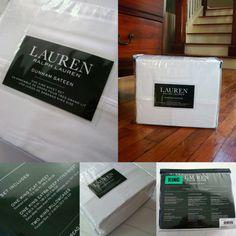 New Ralph Lauren RL cotton Dunham Sateen KING sheet set white 4 pcs 300TC X-deep - http://home-garden.goshoppins.com/bedding-products/new-ralph-lauren-rl-cotton-dunham-sateen-king-sheet-set-white-4-pcs-300tc-x-deep/