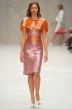 Burberry Prorsum Spring Summer 2013: Capes, Metallics & PVC | Shows