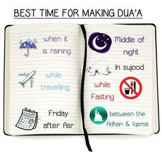 Best times to make dua!