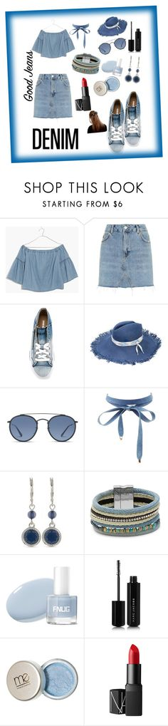 """""""Pretty In """"DENIM""""......."""" by mandira-vidhi ❤ liked on Polyvore featuring Madewell, Topshop, Diesel, Maison Michel, Ray-Ban, Charlotte Russe, Nine West, Design Lab, Marc Jacobs and NARS Cosmetics"""