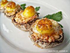 Ciuperci umplute cu brânză şi ouă de prepeliţă - Cartea de Bucate Aromate