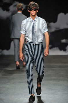 Catwalk photos and all the looks from Tiger of Sweden Spring/Summer 2016 Menswear London Fashion Week