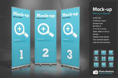 Roll-Up or Banner Mock-up by Paulnomade on Creative Market