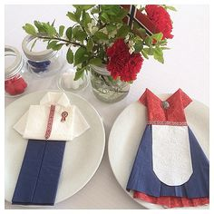 17. Mai, Norwegian Food, Napkin Folding, Time To Celebrate, Holidays And Events, Fourth Of July, Norway, Party Time
