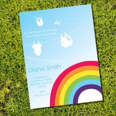 Rainbow Baby Shower - Invitation Only (Unisex). $15.00, via Etsy.