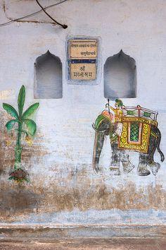 Elephant Mural - Varanasi, India