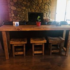 Unique Primtiques Multi Functional Tall Table Golden Oak &   Etsy Rustic Sofa Tables, Rustic Farm Table, Tall Table, Rustic Bench, Rustic Wood, Rustic Farmhouse, Country White Kitchen, Oak Stain, Walnut Stain