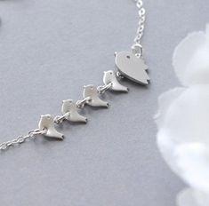 Personalized Jewelry Mom Jewelry Family Bird by SarahOfSweden