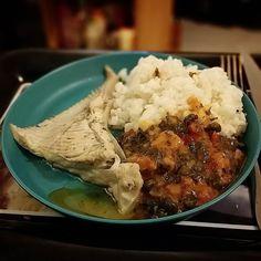Avant hier soir c'était Raie et Ratatouille. #FoodPorn #Fish
