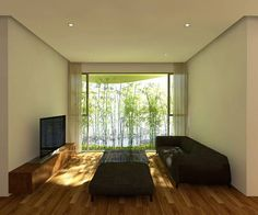 """Interior view -- Condos in Ho Chi Minh City -- The bamboo in the planters will shade the apartments from the sun, and evidently also provide """"structural flexibility against storms."""""""