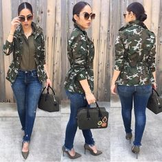 Styles Garden Flowers: Tulip Trees The Tulip Tree has got its name from its tulip shaped flowers. Camoflauge Jacket Outfit, Army Jacket Outfits, Camo Outfits, Camo Jacket, Camo Fashion, Fashion Outfits, Womens Fashion, Fashion Days, Fashion Fashion