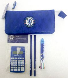 Chelsea Football CFC Official FA Stationary Pencil Case Calculator Pencils Pen in Sports Memorabilia, Football Memorabilia, Other Football Memorabilia | eBay