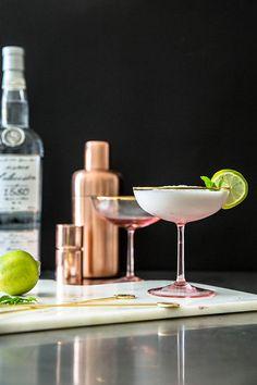 Slushy Coconut-Mint Margarita   theglitterguide.com