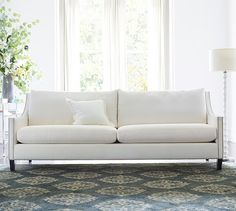 Pasadena Upholstered Sofa - Sunbrella Performance Sahara Weave  in Oatmeal or Charcoal