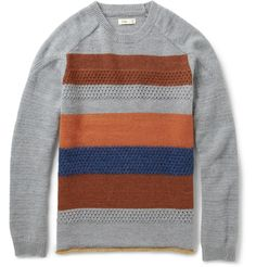 FolkJummy Striped Wool-Blend Sweater|MR PORTER