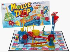 Mouse Trap. My #3 favorite board game behind Clue (#1) and Yahtzee (#2). Played this as much as possible as a kid. Even by myself (only child yayyyy). Totally unique and building the game was fun. I also loved the tension. Gotta get into the right spot AND pray the trap worked. Great stuff.