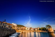 reflections, sunset, boat, greece, castle, panoramic, harbor, slow speed, nafpaktos, its_me, foretress