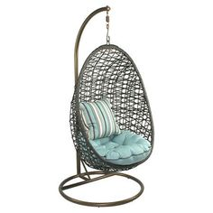 So fun for a reading nook. I pinned this Akye Porch Swing from the Bella Bohemian event at Joss and Main! #summerporchdecorhammockchair (summer porch decor hammock chair)