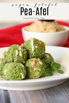 My Pea-Afel (vegan falafel) swaps peas for chickpeas in traditional falafels and it makes an addicting little appetizer bite that everyone will love! Dairy Free Appetizers, Easy Appetizer Recipes, Healthy Appetizers, Party Appetizers, Savory Snacks, Game Night Food, Best Comfort Food, Comfort Foods, Whole Foods Market