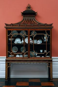 Chinoiserie Glass Cabinet