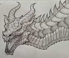 Skyrim Dragon by on DeviantArt Fantasy Dragon, Fantasy Art, Dragon Medieval, Dragon Skyrim, Skyrim Drawing, Love Birds Drawing, Dragon Illustration, Dragon Sketch, Dragon Artwork