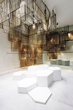 Isabel Marant Bangkok Store by Cigue - Retail Design - Interior Design Interior Design Blogs, Design Commercial, Commercial Interiors, Display Design, Store Design, Booth Design, Design Art, Isabel Marant, Architecture Design