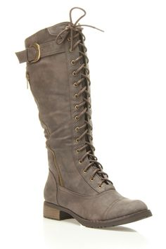Westwood Cici Lace Up Booties In Brown