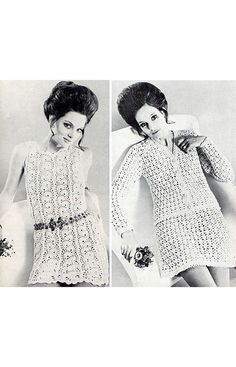 Vintage 1960s Women's Crochet Patterns Swinging by BessieAndMaive