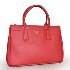b49ff55d586b Prada Small Saffiano Double Zip Executive Tote Handbag BN1801 red (ROSSO)